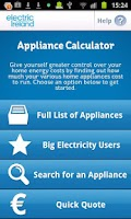 Screenshot of Appliance Calculator