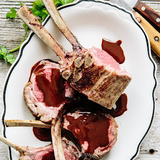 Lamb with Dark Chocolate Pepper Sauce.