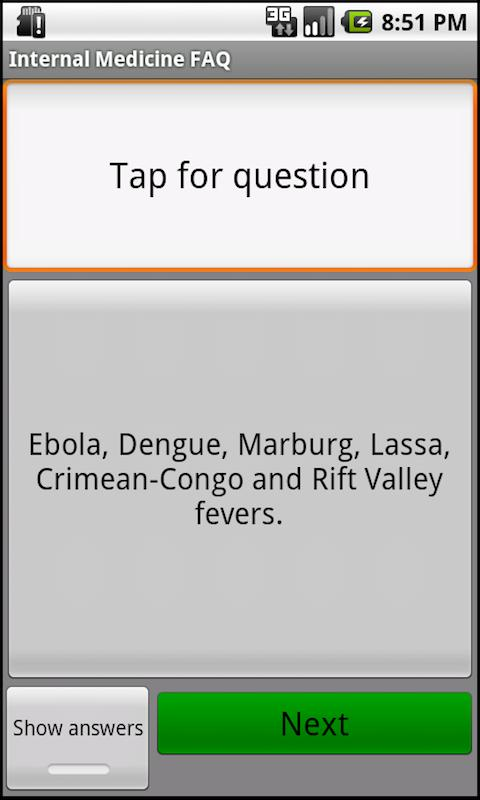 Internal Medicine Questions- screenshot