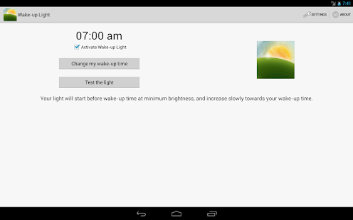 Wake-up Light - screenshot thumbnail