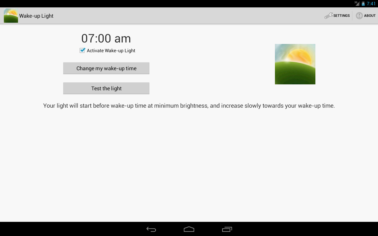 Wake-up Light - screenshot