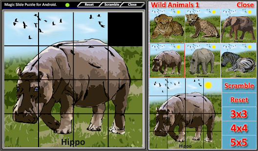 Magic Slide Puzzle W.Animals 1 Screenshot 12