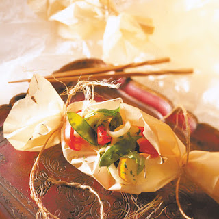Chinese Vegetables in Parchment