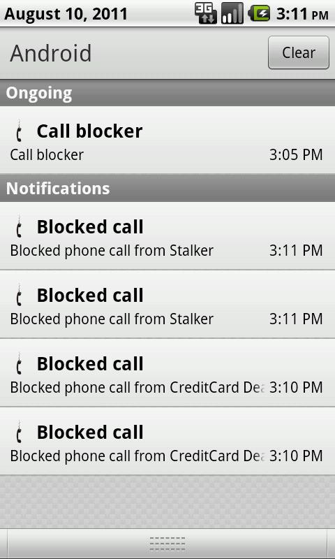 Call Blocker- screenshot