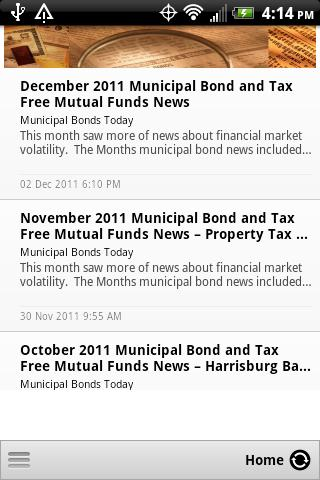 Municipal Bonds - Mutual Funds - screenshot