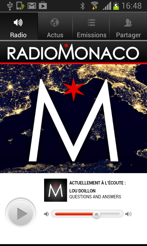 Radio Monaco – Capture d'écran
