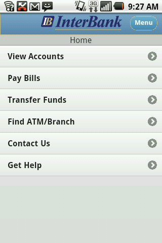 InterBank - Mobile - screenshot