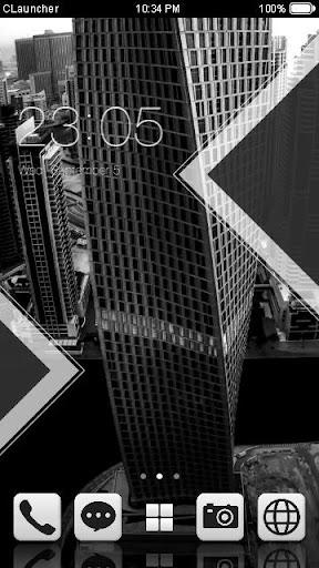 黑白配手机主题——畅游桌面