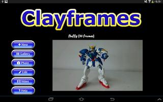 Screenshot of Clayframes - stop motion