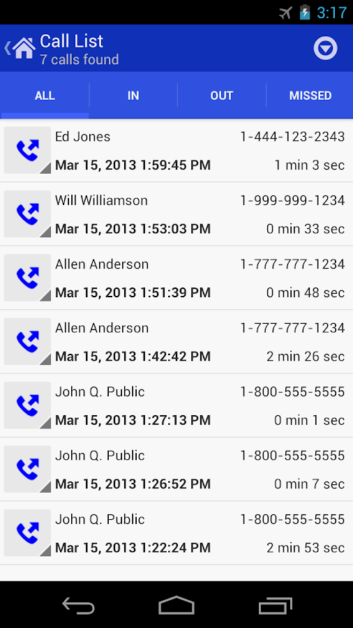 Call Log Tools- screenshot