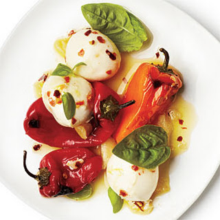 Marinated Peppers and Mozzarella