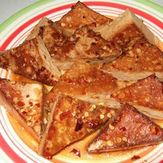 Orange-Ginger Tofu Triangles