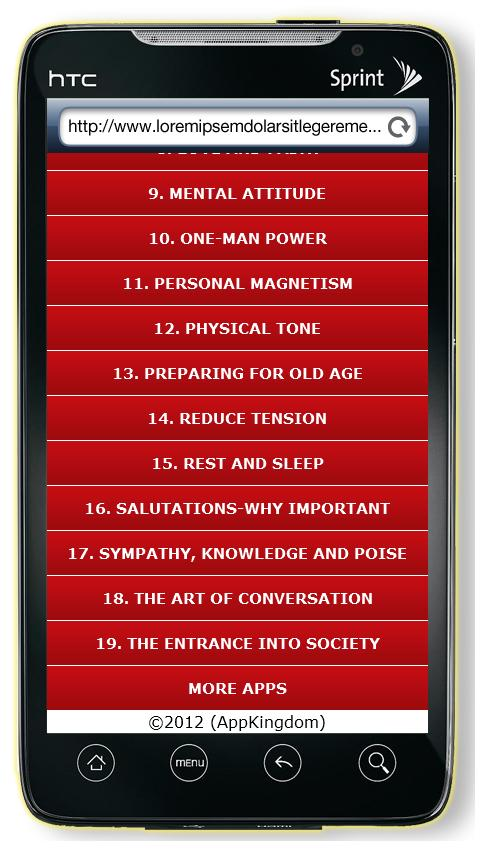 Self Help Book- screenshot