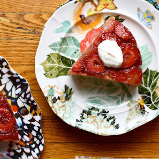 Strawberry Upside-down Cake with Cardamom