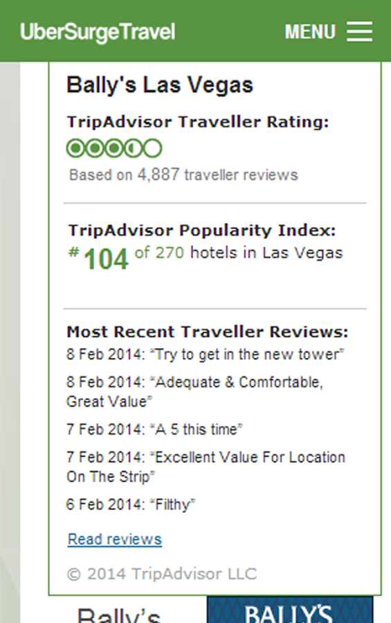 Las Vegas Hotel Casino Booking- screenshot
