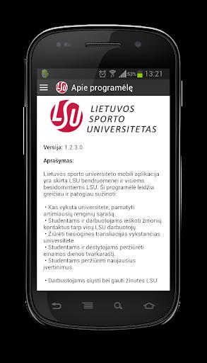 LSU Mobili aplikacija