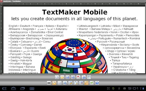 Office 2012: TextMaker Mobile - screenshot thumbnail