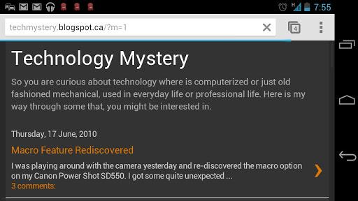 Technology Mystery Blog