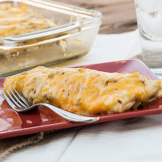 Simple Smothered Beef Burritos.