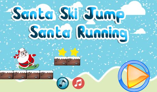 Santa Ski Jump Santa Running