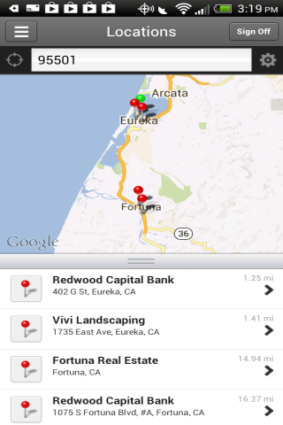 Redwood Capital Bank Mobile- screenshot