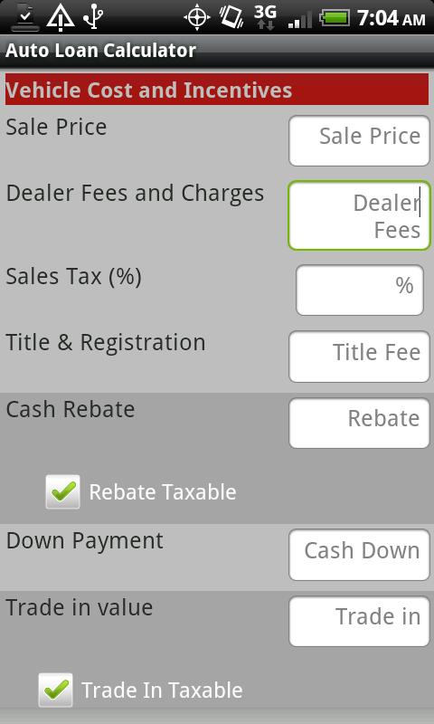 Auto Loan Calculator  Android Apps On Google Play
