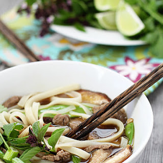 Vietnamese Rice Noodle Soup with Beef.