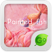 GO Keyboard Painted fish theme
