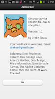 Screenshot of Advice Owl