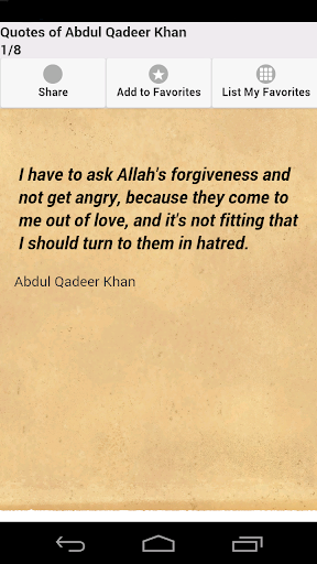 Quotes of Abdul Qadeer Khan