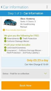 rentalcars.com Car hire App - screenshot thumbnail