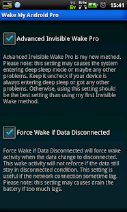 Wake My Android Pro (free) - screenshot thumbnail