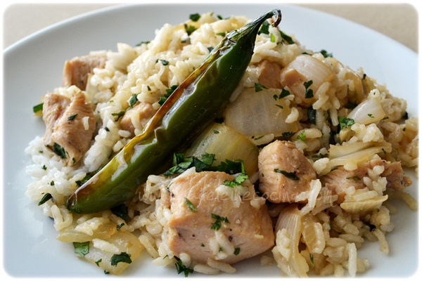 Chicken Marinated in Soy Sauce with Rice and Onion Recipe
