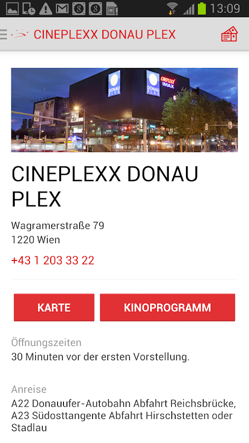 Cineplexx- screenshot