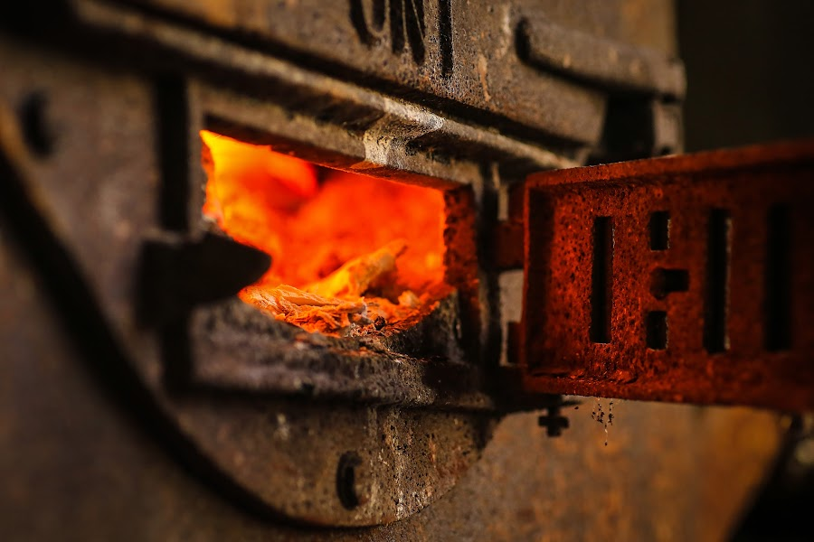 Fire Box by Roberta Janik - Artistic Objects Industrial Objects ( furnace, boiler, fire box, drum heater, color, colors, landscape, portrait, object, filter forge )