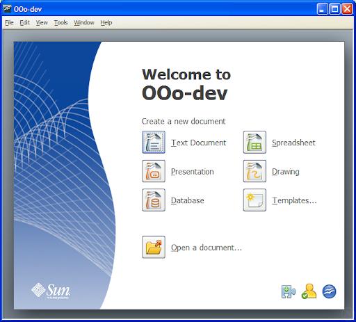 OpenOffice.org 3.0 start center