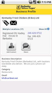 Barbados Yellow Pages - screenshot thumbnail