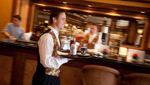 Luxury-Service-Bistro-Cafe-Service-1 - Receive top-flight service when you dine in the Bistro Cafe aboard Crystal Symphony.