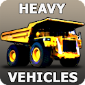 Heavy vehicles 3d puzzle icon