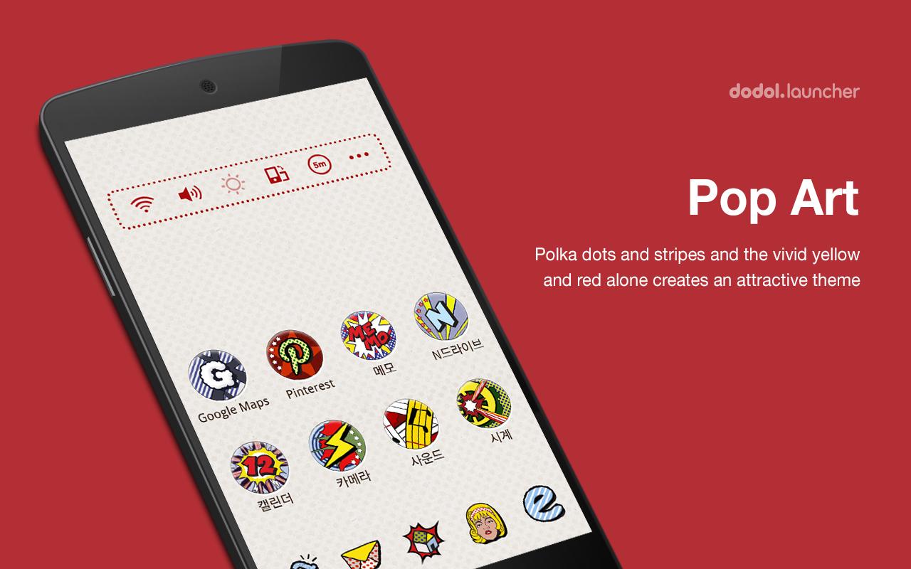 Google themes got7 - Pop Art Dodol Theme Screenshot