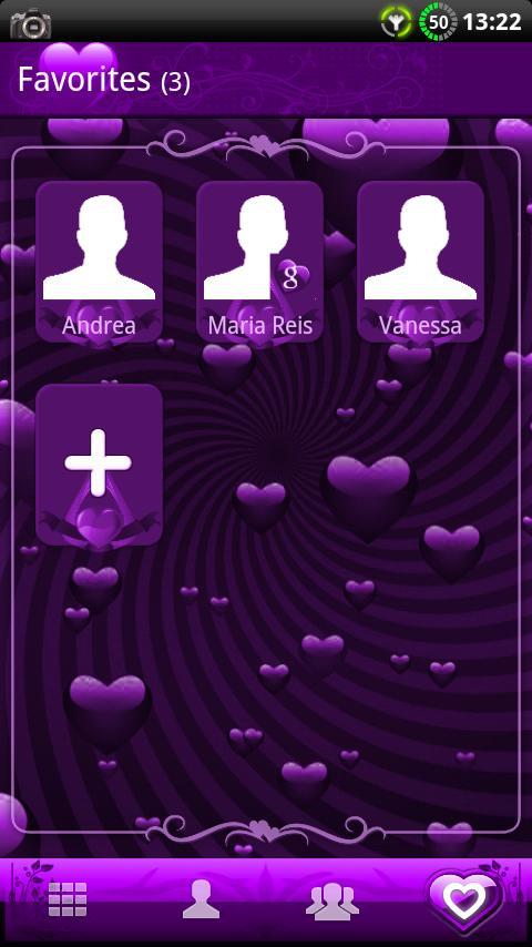 GOContacts theme Valentines- screenshot