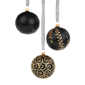 Christmas Ornament Black