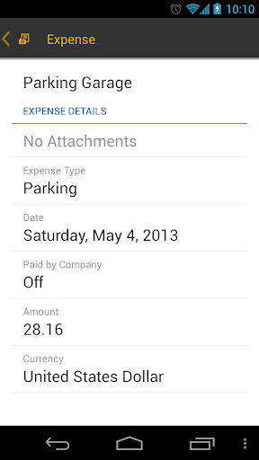 SAP Travel Receipt Capture