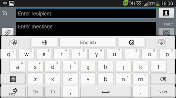 Screenshot of Clean White GO Keyboard theme