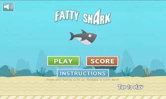 Screenshot of Fatty Shark (Flappy Shark)