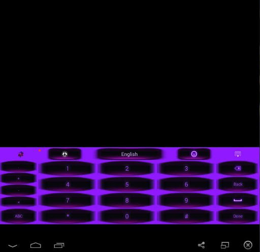 GO Keyboard Pink Purple Theme