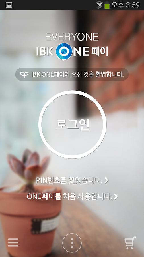 IBK ONE페이- screenshot