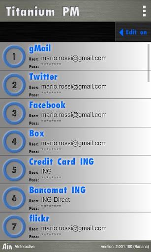 Titanium Password Manager Banana screenshots 4