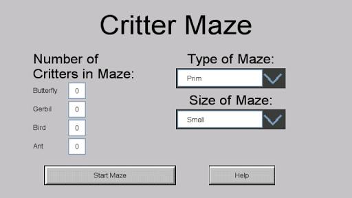 Critter Maze