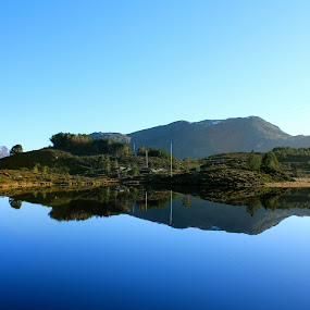 Perfect by Cecilie Hansteensen - Landscapes Waterscapes ( waterscape, mirros, perfect, måløy, sun, norway, paradis,  )
